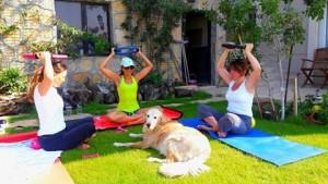 Doğada pilates dersleri