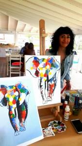 Luminy ile Alaçatı'da tuval üzerinde resim ve sanat dersleri