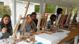 Luminy Sevgi Gür Art Studio Sanat ve Resim Terapisi Çeşme Alaçatı Nea Garden Otel'de devam edecek.
