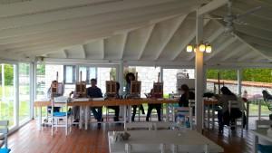 İzmir'de Yoga ve Resim dersleri Alaçatı Nea Garden Otelde