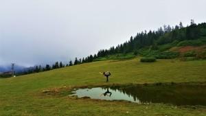 Göktürk'te Canan Korkmaz ile doğada ve heryerde yoga dersleri başladı. (Resim: Badara Yaylası Karadeniz Yoga Kampı)