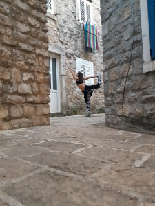 Yoga sessions and lessons in Old Town, Budva, Montenegro.