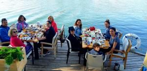 İzmir'den Dalyan'a huzur yolculuğumuzda sabah kahvaltımızdan bir kare.